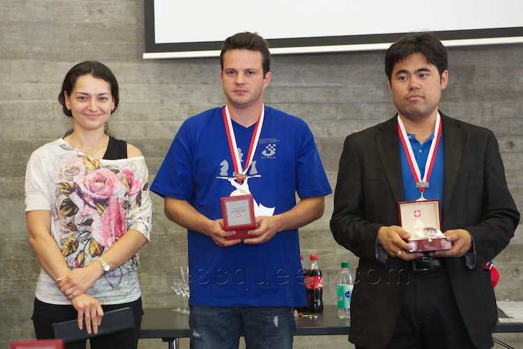 Winners of the Biel Show Blitz: Nakamura, Bacrot, Kosteniuk