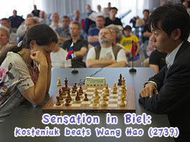Chess Queen Alexandra Kosteniuk beats Wan Hao