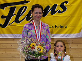 Chess Queen Alexandra Kosteniuk finished 3rd of the National Swiss Championship