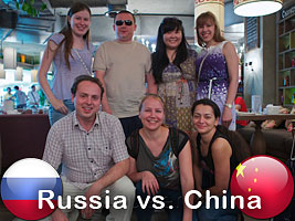 Chess Queen Alexandra Kosteniuk plays in the Russian team vs. China