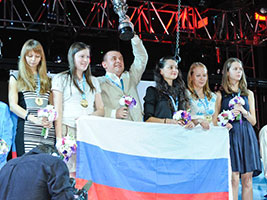 Russia with Chess Queen Alexandra Kosteniuk win Gold at the Istanbul Chess Olympiads
