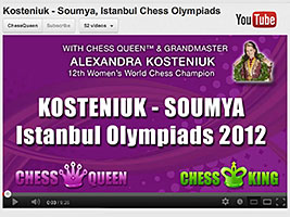 Chess Queen Alexandra Kosteniuk wins against Sumya in a very aggressive variation
