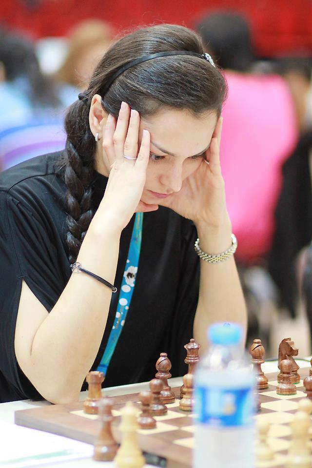 Chess Queen Alexandra Kosteniuk at the 2012 Istanbul Chess Olympiads