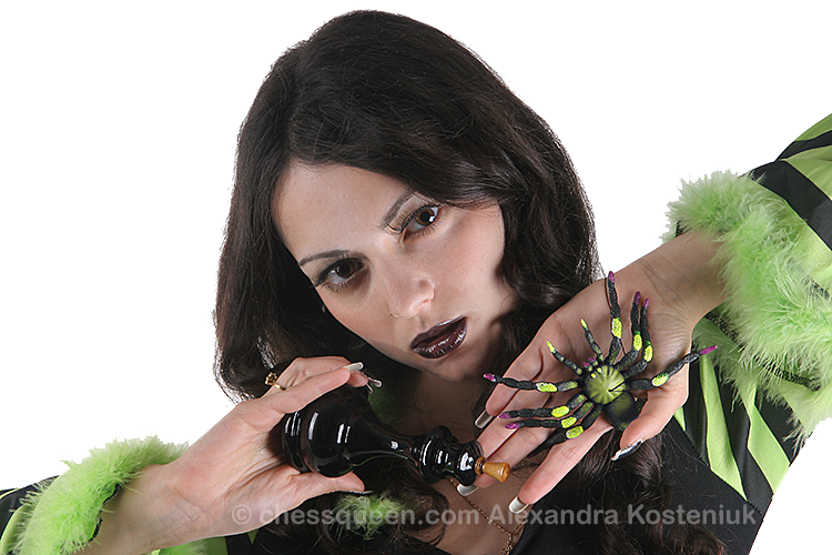 Chess Queen Alexandra Kosteniuk Halloween Photo