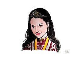Chess Queen Alexandra Kosteniuk painted by artist Natalia Vasilyeva navasy
