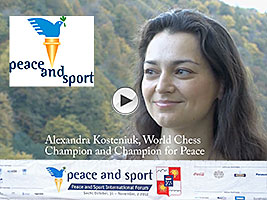 Chess Queen Alexandra Kosteniuk at the Sochi Forum of Peace and Sport
