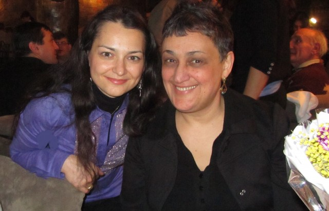 Chess Queen Alexandra Kosteniuk with Maia Chiburdanidze