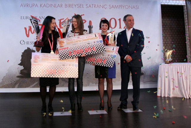 Chess Queen Alexandra Kosteniuk wins Silver at European Rapid 2012