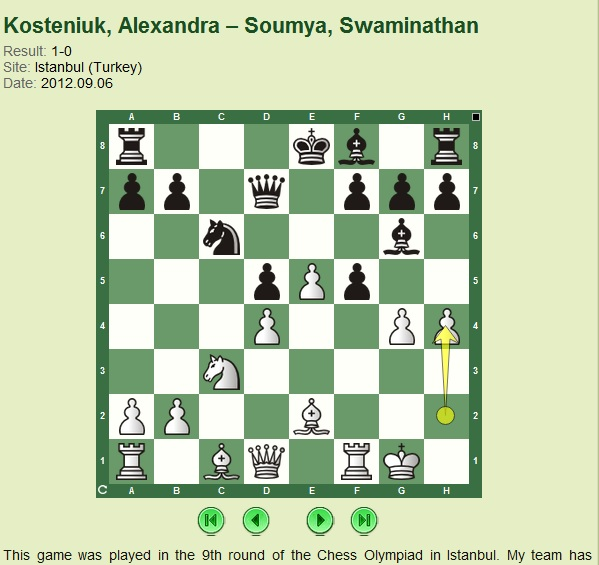 Chess Queen Alexandra Kosteniuk plays a novelty in the Caro-Kann