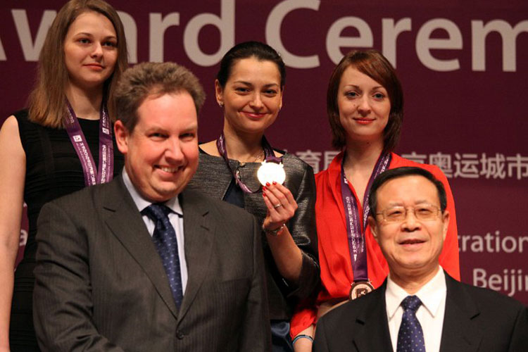 Chess Queen Alexandra Kosteniuk wins Gold in China