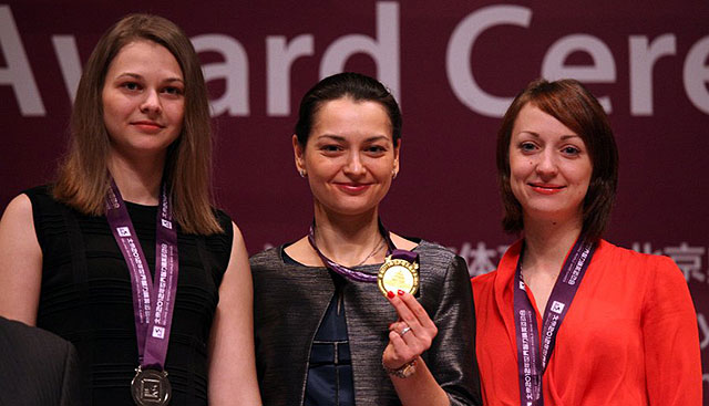 Chess Queen Alexandra Kosteniuk wins Gold at Sport Accord 2012 World Mind Sport Games
