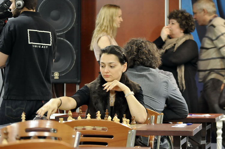 Chess Queen Alexandra Kosteniuk in Aeroflot 2013