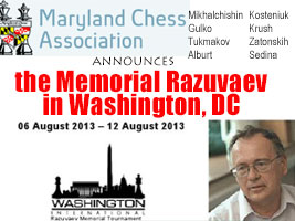 Chess Queen Kosteniuk will play the Chess Memorial Razuvaev in Washington, DC