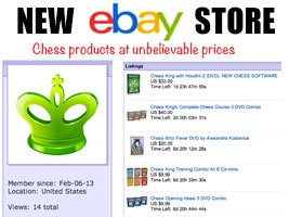 Chess King and Queen eBay store by Alexandra Kosteniuk