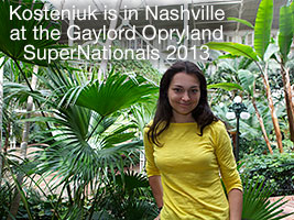 Chess Queen Alexandra Kosteniuk is at the 2013 SuperNationals in Nashville
