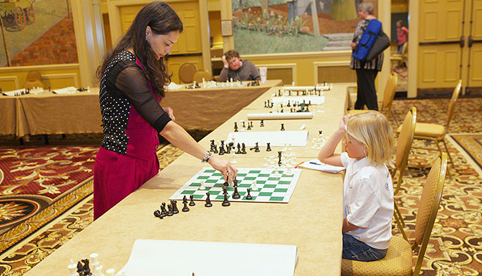 Chess Queen Kosteniuk at the 2013 SuperNationals in Nashville