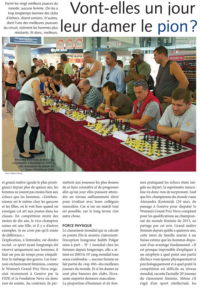 Chess Queen Kosteniuk in Echo Magazine