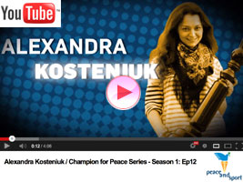 Chess Queen Kosteniuk is champion for Peace for Peace & Sports