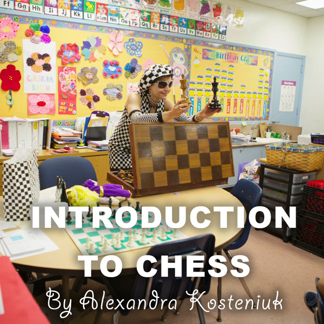 Chess Queen Alexandra Kosteniuk introduces a Kindergarten class to chess