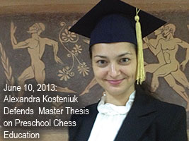 Chess Queen Alexandra Kosteniuk gets Masters Degree