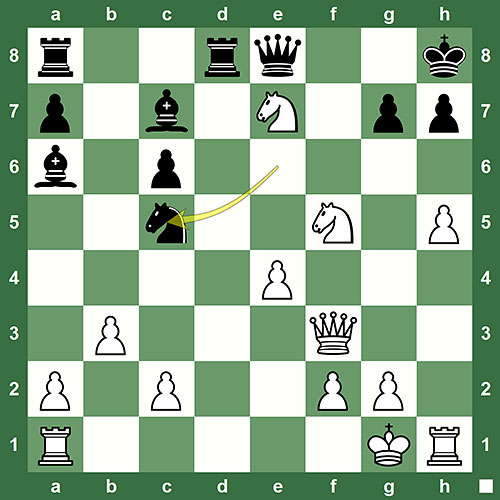 Kosteniuk - Carron, Switzerland 2013. White plays and wins