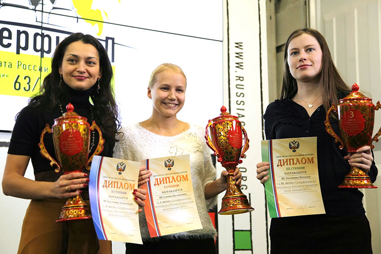 Kosteniuk Gunina and Pogonina winners of the 2013 Russian Chess Superfinals