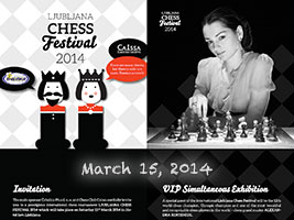 Chess Queen Kosteniuk in Slovenia 2014