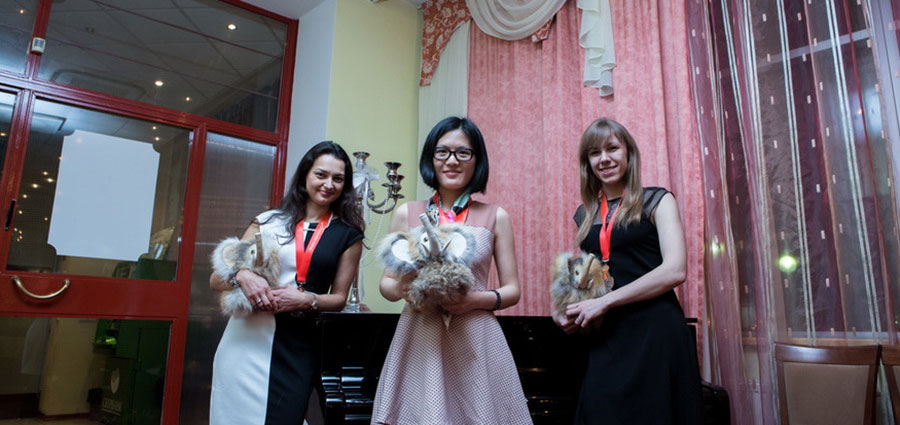 Hou Yifan, Olga Girya, Alexandra Kosteniuk