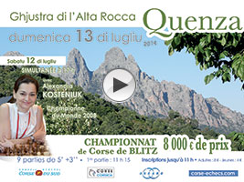 Kosteniuk to play in the 2014 Corsica Chess Blitz tournament